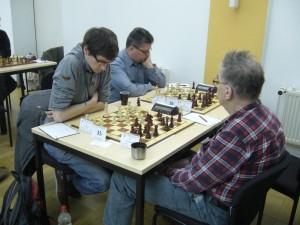 David Bauer im Turniersaal 2 beim Schlussrundensieg über Hans Kielstein